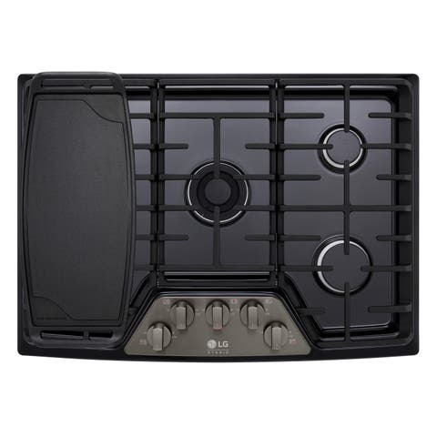 "LG LSCG307BD STUDIO 30"" Gas Cooktop Black Stainless Steel"