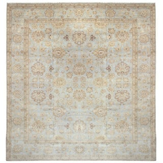 Wool/Bamboo Damask Area Rug - 9'2 x 12'1