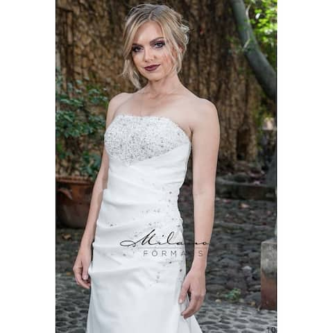 5705246c031 Brush Train Wedding Dress from Milano Formals  AA9254