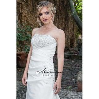 Brush Train Wedding Dress from Milano Formals #AA9254