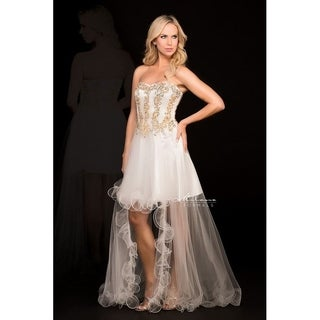 Luxurious Golden Bridal gown from Milano formals #E1579