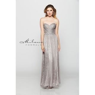 Silky prom gown from Milano Formals #E1796