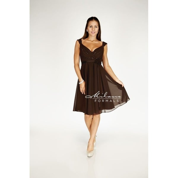 Sexy chocolate homecoming dress from Milano formals #E1356
