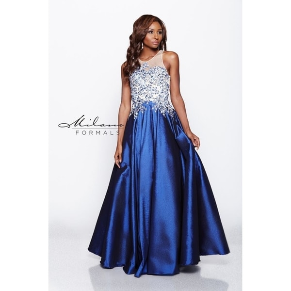 fe8008bfed Beautiful long ball gown evening dress from Milano formals #E1917