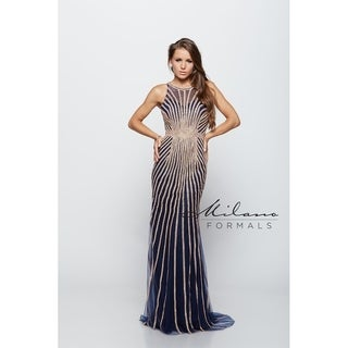 Rich sterling Prom Dress from Milano formals #E1971