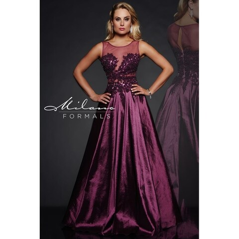 Dramatic Plum Evening gown from Milano formals #E1954