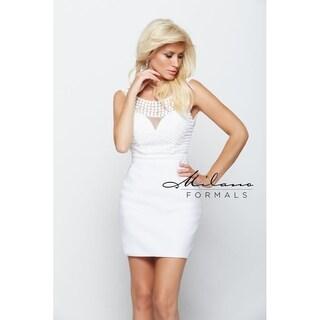 Stunning ivory short dress from Milano formals #E2041