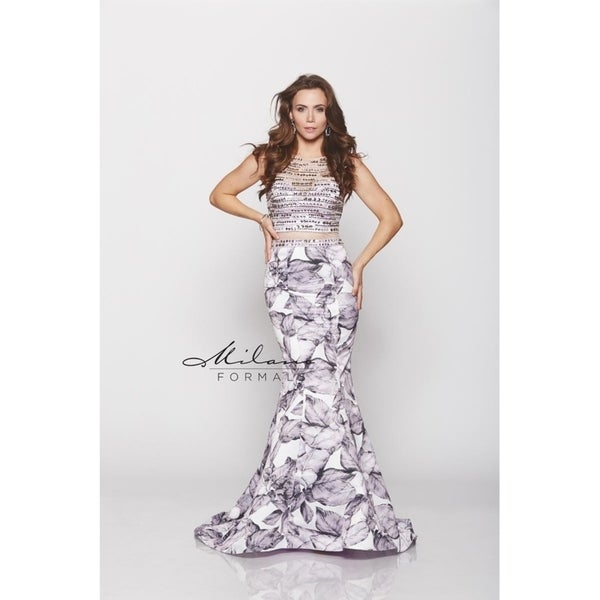 464a3fbb3d Charcoal Mermaid Prom Dress from Milano formals #E1982