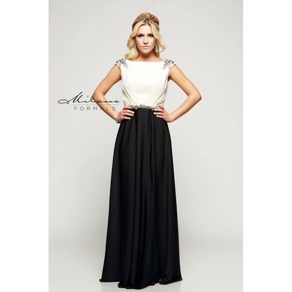 e9820de4ad Shop Elegant long formal dress from Milano formals  E2096 - Free Shipping  Today - Overstock.com - 25752257
