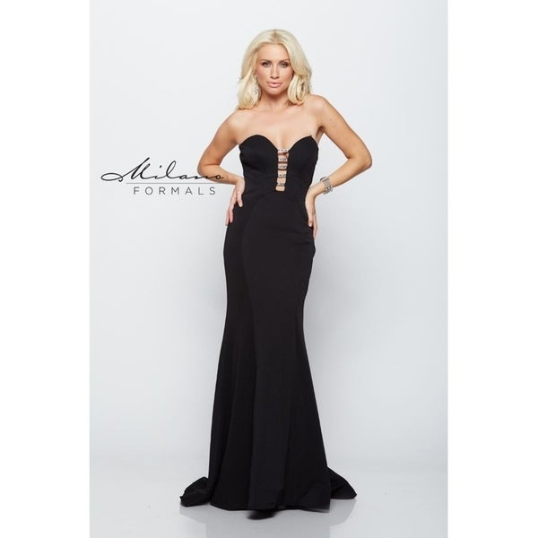 4b09925ede Shop Breathtaking long flowing formal dress from Milano formals   E2102 - Free  Shipping Today - Overstock - 25752266