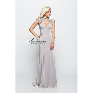 Sexy Silver Evening Dress from Milano Formals #E2119