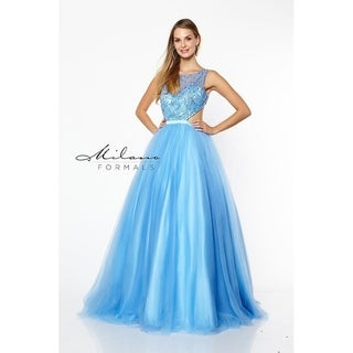 Sexy Sky Blue Evening Dress from Milano Formals #E2171