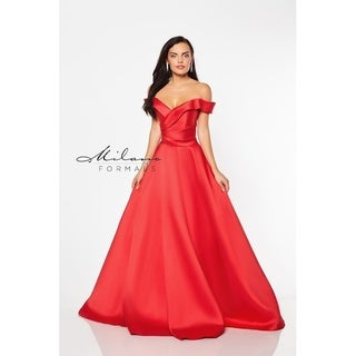 Sensational red evening gown from Milano formals #E2046