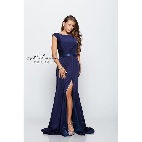 Classic Navy Evening Dress from Milano Formals #E2136