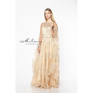 Lacey gold evening dress from Milano formals #E2158