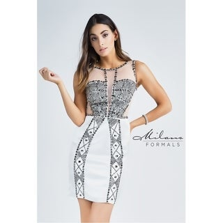 Charming Silver Prom Dress from Milano Formals #E2210