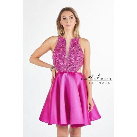 Dazzling Halter Neck short dress from Milano formals #E2255
