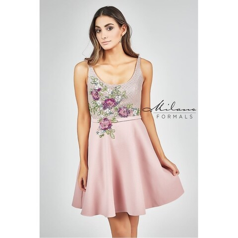 Amazing sleeveless short dress from Milano formals #E2280