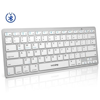 VicTsing Ultra-Slim Portable Bluetooth Keyboard for iOS, Android, Windows, Mac OS Laptop, Tablet, Smartphone