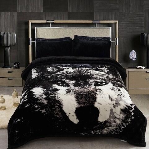 Fleece Blanket 2 Ply Printed Pattern - Korean Mink Winter Weighted Blanket