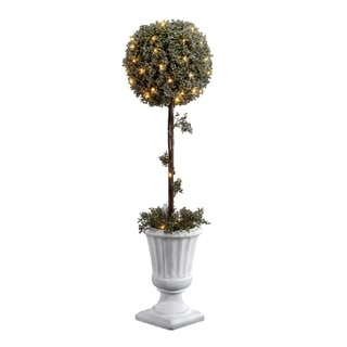 """National Tree Company 41"""" Pre-Lit Holiday Christmas Decorative Topiary with Light in Pot"""
