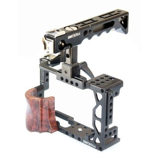 Shootvilla Camera Cage Wooden Support with Top Handle Compatible with Sony A7II, A7RII A7SII