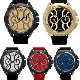 M Milano Expressions Rubber Strap Men Watch - 4648 - N/A