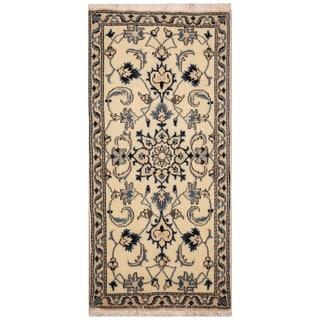 Handmade Nain Wool Rug (Iran) - 2'2 x 4'5