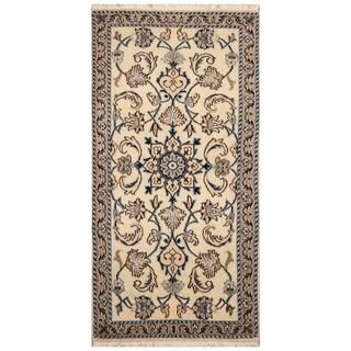 Handmade Nain Wool Rug (Iran) - 2'4 x 4'6