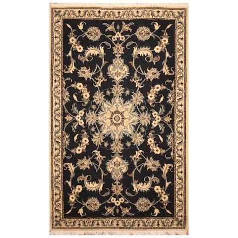 Handmade One-of-a-Kind Nain Wool Rug (Iran) - 3' x 4'7