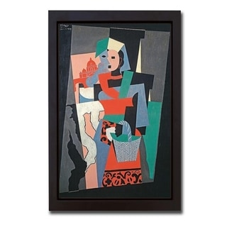 L'Italienne (The Italian) by Pablo Picasso Framed Canvas Giclee Art (20 in x 14 in Framed Size, Ready to Hang)