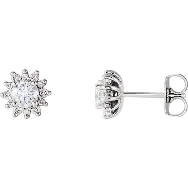 1 2 Ctw Diamond Stud Earrings White