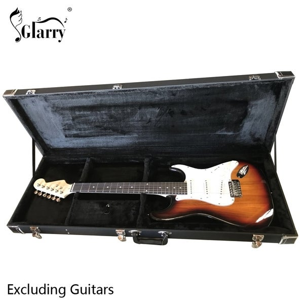 Glarry ST Microgroove Flat Portable Square Electric Guitar Case