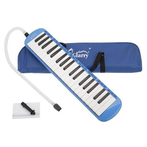 Glarry 5 Colors 37-Key Melodica with Mouthpiece & Hose & Bag