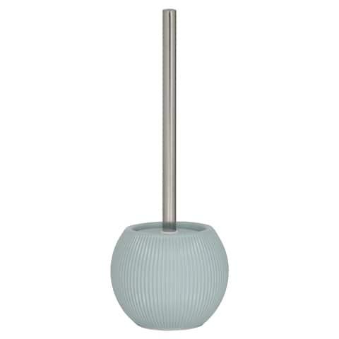 Toilet Brush And Holder Sealskin Convex Soft Blue Porcelain