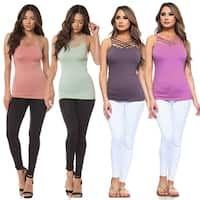 Women's Seamless Triple Criss-Cross Front Cami