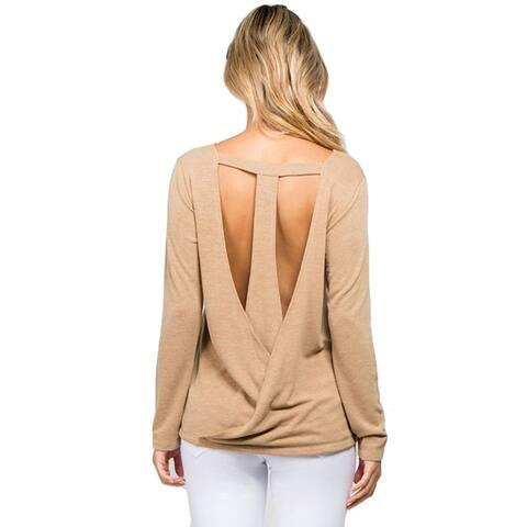 Women's T-Strap Surplice Back Top