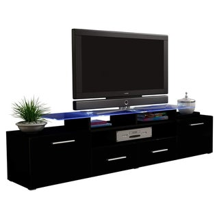 Vegas Modern 76 Wide Tv Stand Matte Body High Gl