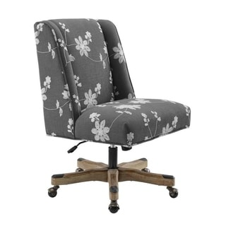 Cabot Grey Embroidered Office Chair