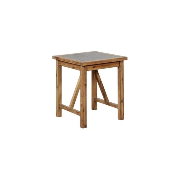 Calin Rustic End Table