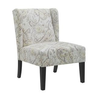 Zoe Blue Wing Back Chair