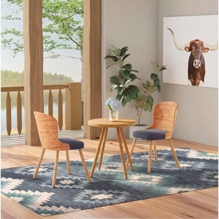 Tome Modern Bamboo 3-Piece Mid-Century Dining Set by Corvus