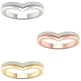 1/6ct TDW Diamond Contour Wedding Band in 10k Gold by De Couer