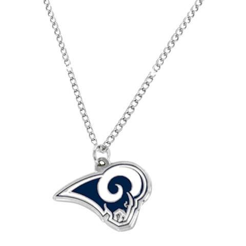 NFL LA Los Angeles Rams Sports Team Logo Necklace - Multi-color