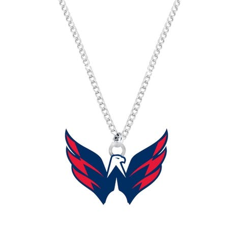 NHL Washington Caps Capitals Sports Team Logo Necklace - Multi