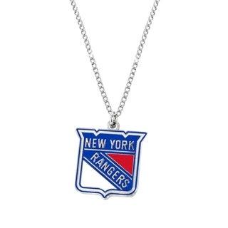 NHL New York Rangers Sports Team Logo Necklace Multi