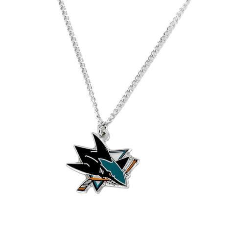 NHL San Jose Sharks Sports Team Logo Necklace - Multi