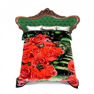 Korean Style Raschel Fleece Blanket -2 Ply Printed Faux Mink Blankets
