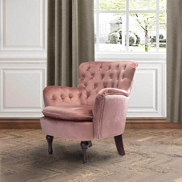 Fantastic Pink Mid Century Modern Living Room Chairs Shop Online At Machost Co Dining Chair Design Ideas Machostcouk