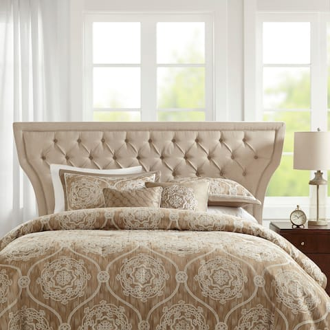 Madison Park Kovton Taupe Queen Headboard